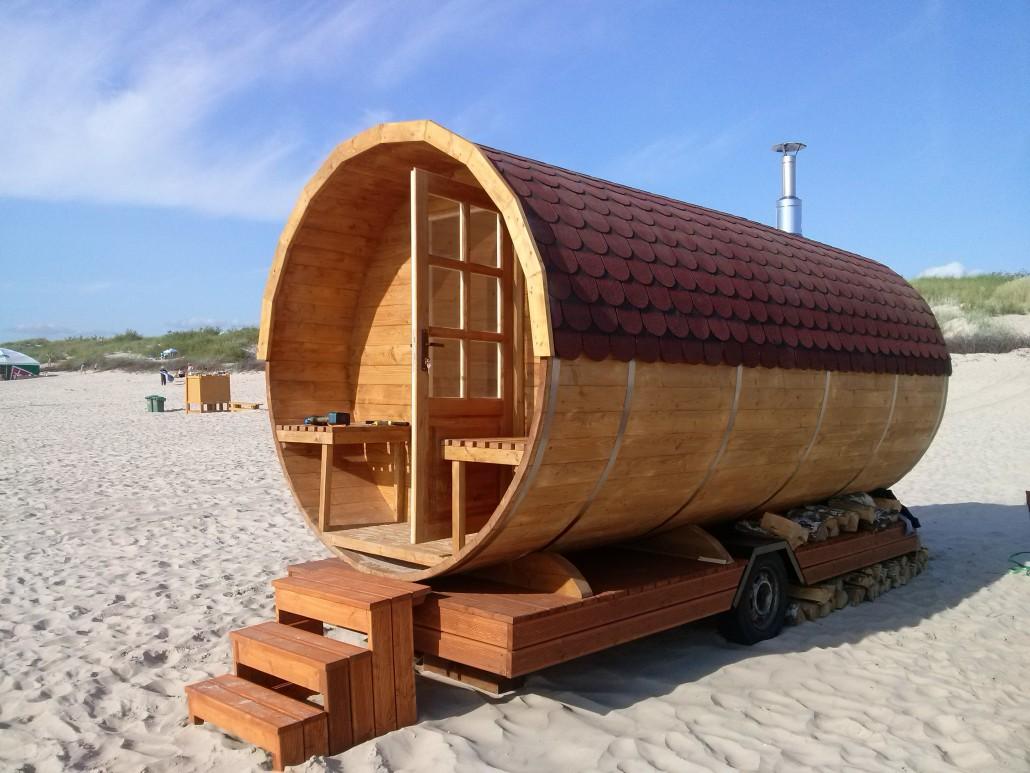 Sauna mobile tonneau XL