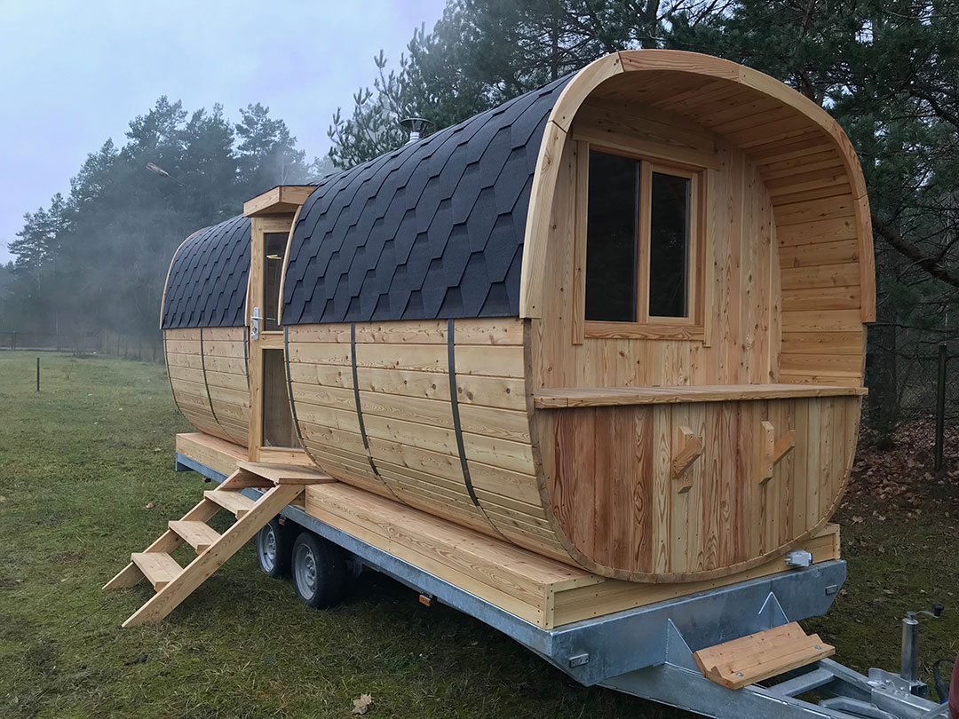Sauna mobile barril
