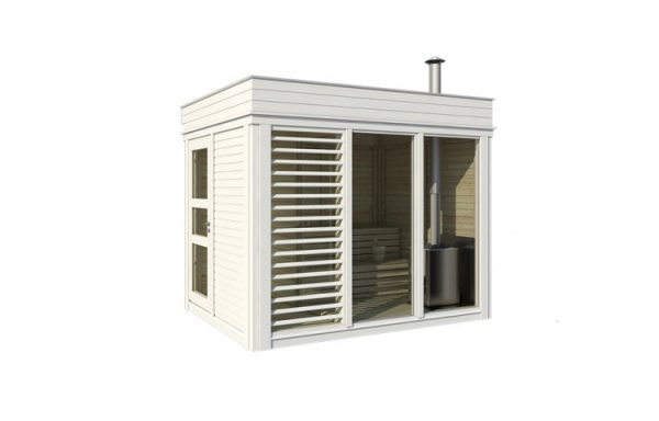 Sauna Cabine 2×3 avec vestiaire