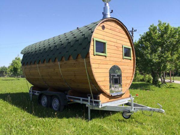 Sauna mobile Tonneau Alpin