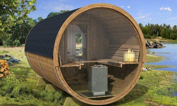 Sauna tonneau 400 panoramique